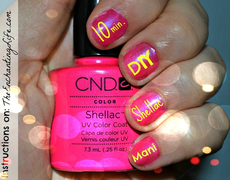 10 min diy shellac manicure the enchanting life 10 minute diy shellac manicure solutioingenieria Choice Image