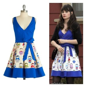 Zooey Dechanel's Russian Doll Dress