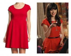 Zooey Deschanel in Red Dress