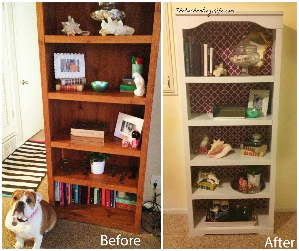 Update An Old Bookcase For 15 The Enchanting Life The