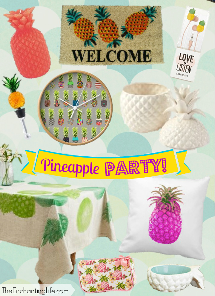 Fun And Affordable Pineapple Home Decor Items On TheEnchantingLife.com