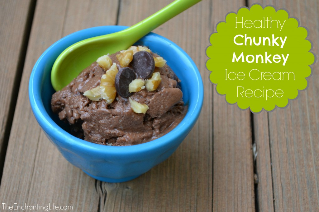 Healthy Chunky Monkey Recipe. Copy Cat of Ben and Jerry's Ice Cream. So good and guilt free!