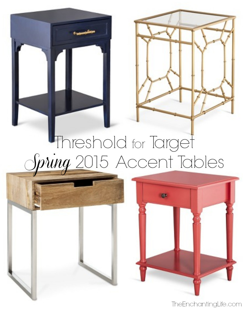 accent tables threshold for target spring 2015