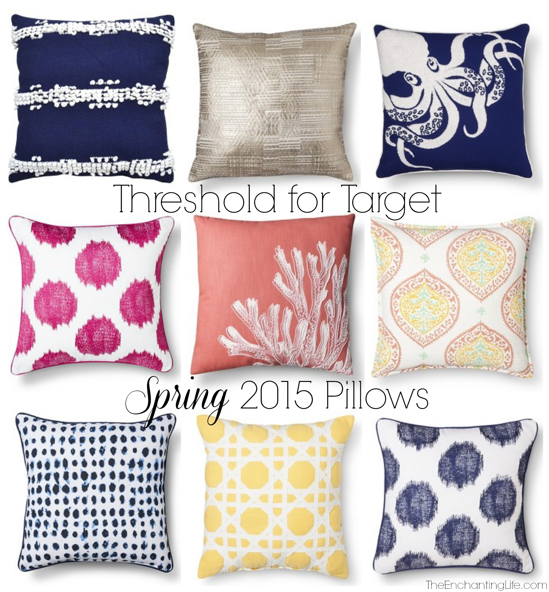 threshold spring 2015 pillows - Pink Home 2015