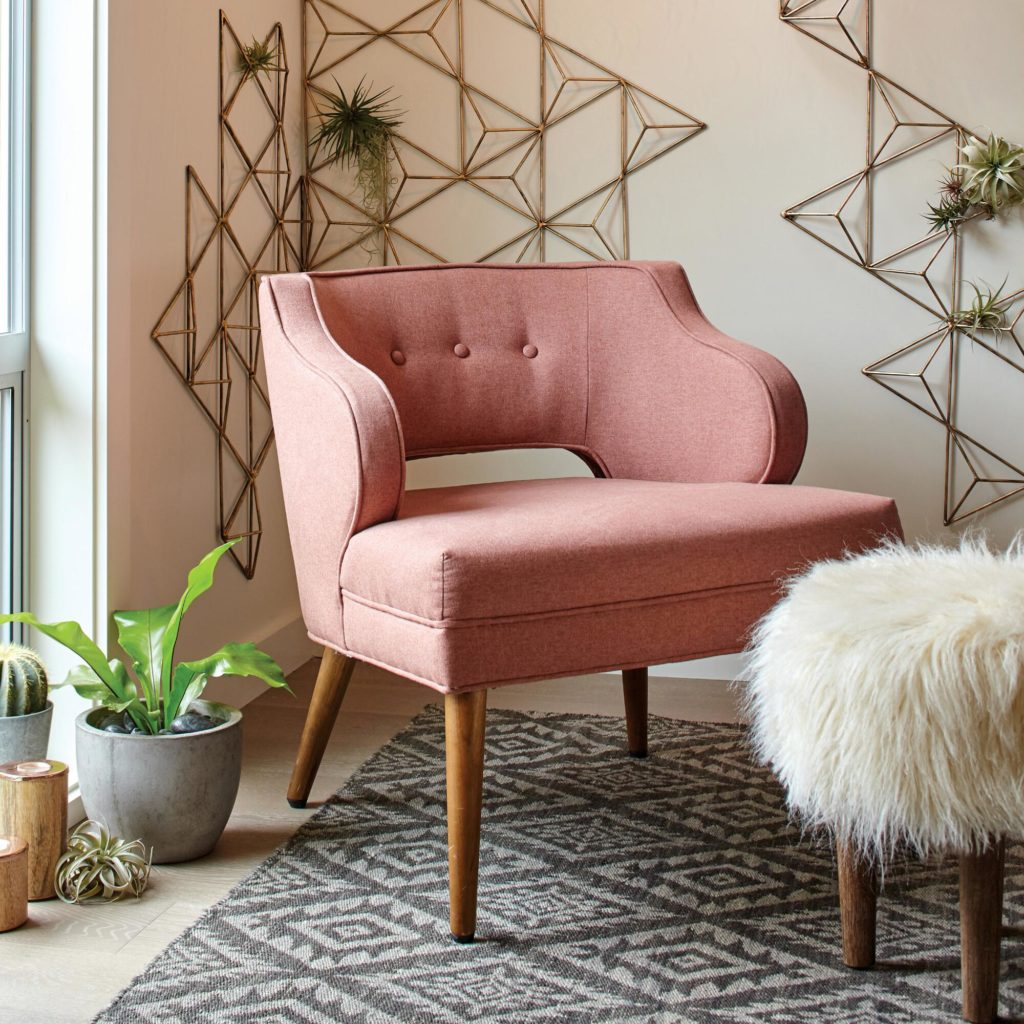Ordinaire Whether In A Living Room Or Office, An Upholstered Pink Chair Can Add A  Touch Of Whimsy To Any Space. This Chair From World Market Is My Current  Fave And Is ...