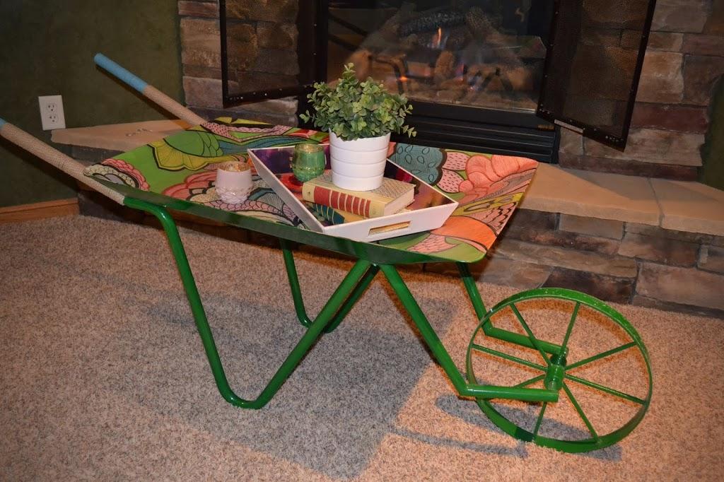 Cute uses for Anthropologie's floral wheelbarrow