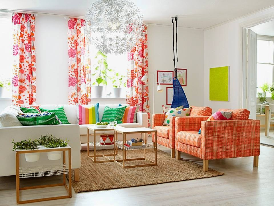 Pop of color ikea living room inspo the enchanting for Living room inspo