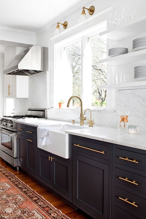 One Thing You May Notice That All Of These Kitchens Have In Common Is That  The Upper Cabinets Are White And The Lower Cabinets And Island Are Darker.
